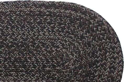 Black Braided Rugs by Country Black Braided Rug
