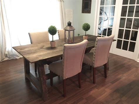 ana white 4x4 truss dining room table and bench diy ana white truss 4x4 dining table diy projects