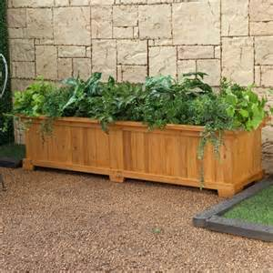 wooden garden containers planting box wood beautiful plants containers as