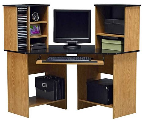 oak corner computer desk with hutch fabulous ameriwood oak corner computer desk with hutch