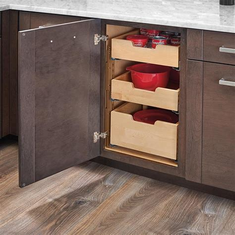 Kitchen Shelf Dividers by Rev A Shelf Drawer With Dividers For 18 Quot Cabinet With Blum Slides 4wdb7 Pil 18sc 1