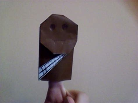 Origami Wookiee - custom origami wookiee origami yoda