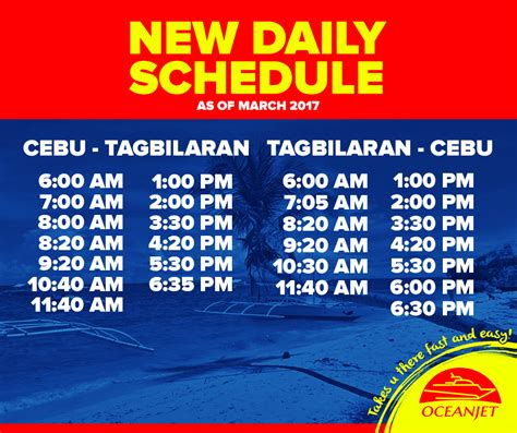 from manila to cebu by boat cebu to tagbilaran ferry schedule and fare rates