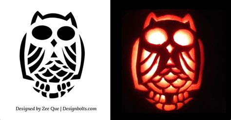 printable scary owl 10 free halloween scary cool pumpkin carving stencils