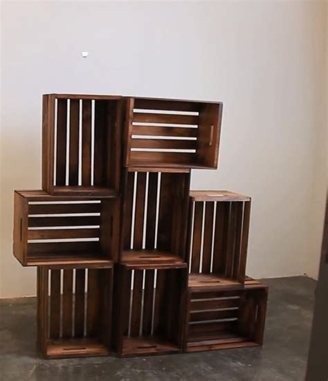 Wood Crate Shelf by Diy Wooden Crate Shelves Diy Ready