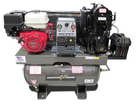 industrial gold platinum series ci13geh30 genwd air compressor generator welder ebay