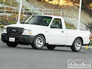 Ford Ranger Lowering Kit 2009 Ford Ranger Flattened Ford Mini Truckin Magazine