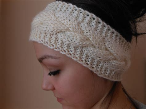 knitting pattern headband ear warmer knit cable headband ear warmer head warmer cream