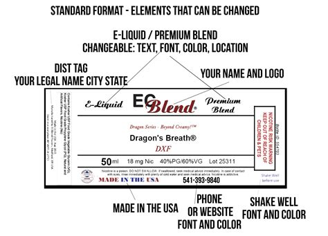 Private Label White Label Design And Customization For E Liquid Labels E Juice Label Template