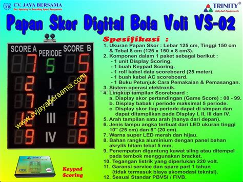 Kabel Ac Angka 8 1 5 Meter papan skor digital bola voli vs 02 digital scoreboard