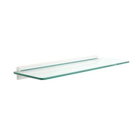 knape vogt 6 in x 18 in white glass decorative shelf