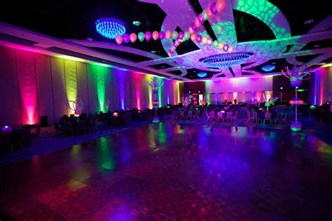 Glow In The Floor by Glowing Reception With Glow In The Decoration