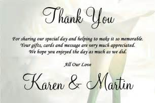 wedding thank you card wording card design ideas