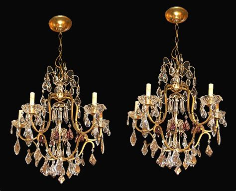 Antique Chandelier Crystals For Sale Pair Of Chandeliers For Sale Antiques Classifieds