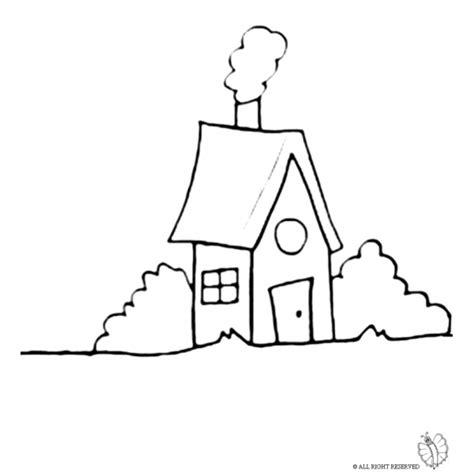 disegno casa disegno di casa nel bosco da colorare per bambini