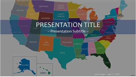 Powerpoint Template United States Map Gallery Powerpoint Template And Layout 50 States Powerpoint Template