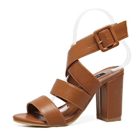 chunky heels sandals crossover chunky heel sandals
