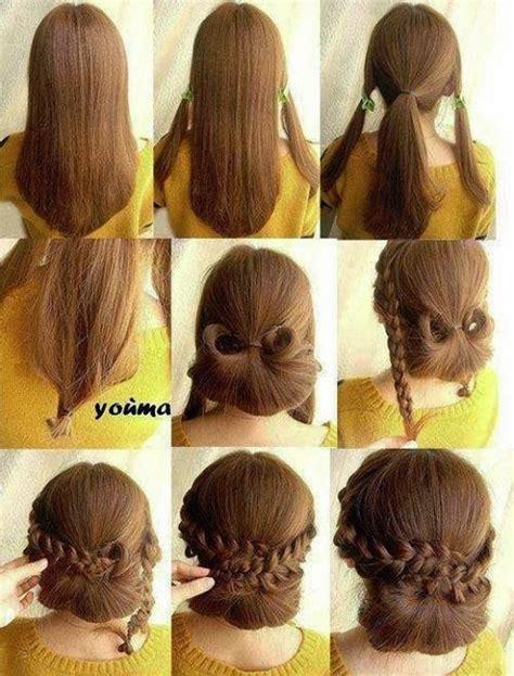 coiffure facile cheveux soi meme coiffure