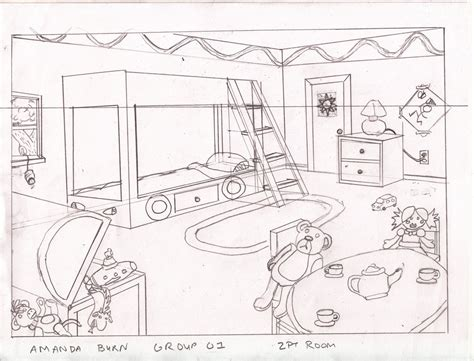 Perspective Drawing Of Bedroom by One Point Perspective Bedroom Bedroom At Real Estate