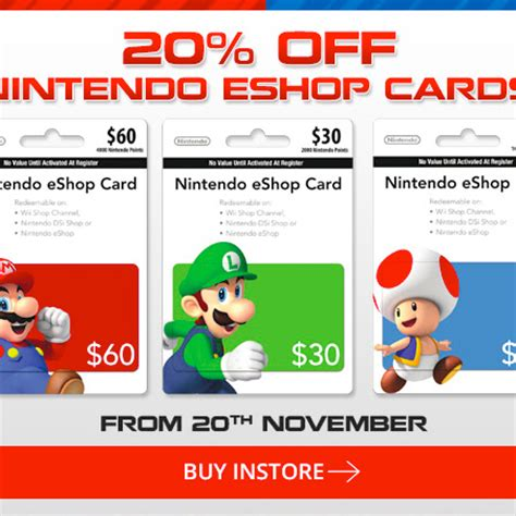 Nintendo E Shop Gift Card - nintendo 3ds eshop card australia images