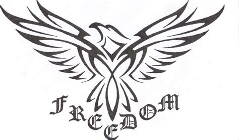freedom tribal tattoos tribal eagle pictures to pin on tattooskid