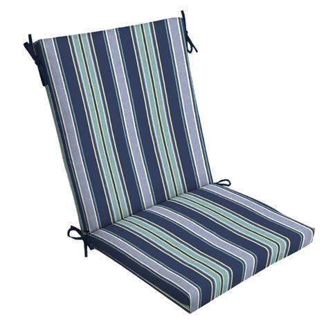 Striped Dining Chair Cushions Hton Bay Chili Stripe Outdoor Dining Chair Cushion Tg12216b 9d4 The Home Depot