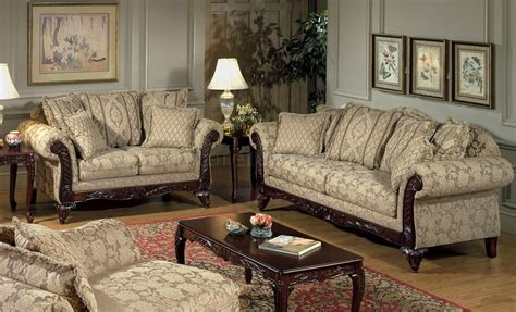 Couches And Loveseats by Beige Clarissa Fabric Traditional 2pc Sofa