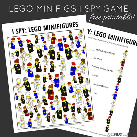 figure therapy minifigures lego minifigures themed i free printable for