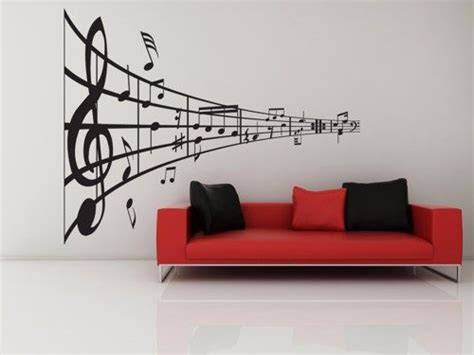 music decor for home music line of notes decal vinyl sticker music home