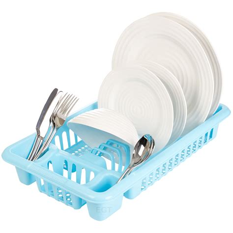 Kitchen Sink Plate Drainer Plastic Dish Plate Utensil Rack Kitchen Sink Drainer Washing Up Draining Holder Ebay