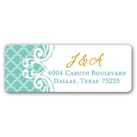 Scalloped Address Labels