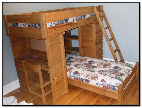 Wooden Bunk Bed With Desk Bunk Beds With Desk And Drawers