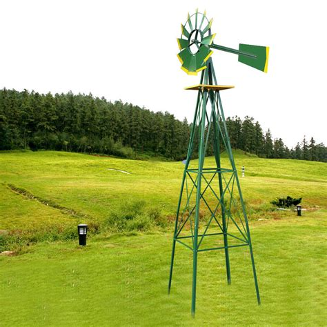 metal windmill 8 foot garden yard decor outdoor spinner