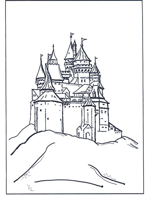 free coloring pages of sleeping beauty castle