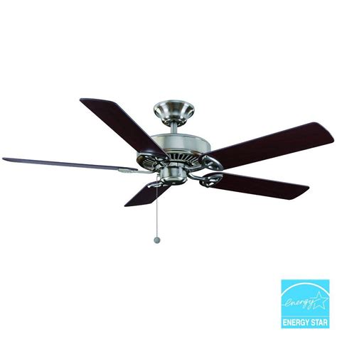 hton bay brushed nickel ceiling fan hton bay farmington ceiling fan best home design 2018