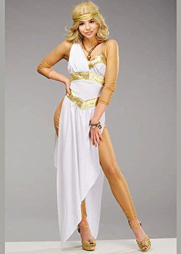 womens deluxe golden greek goddess costume  uk