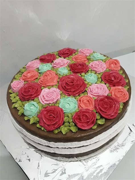 orchid cake anniversary cake kue tart dgn hiasan pengantin
