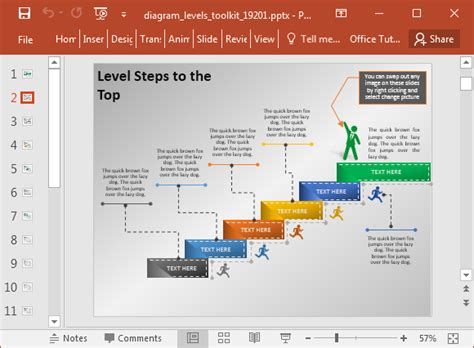 template for powerpoint generator animated stage diagram maker powerpoint template