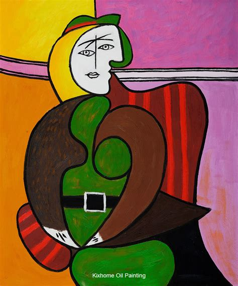 the red armchair the red armchair by famous picasso abstract oil paintings