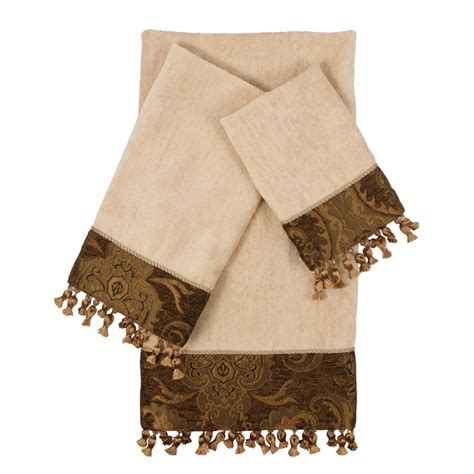 brown patterned towels austin horn collection aberdeen stripe grey decorative