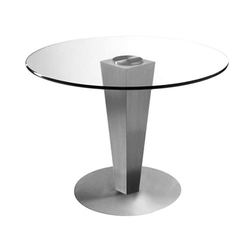 dining table brushed stainless steel 38 quot dia