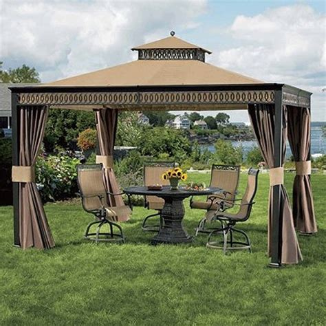 living home gazebo living home 10 x 12 gazebo replacement canopy and netting