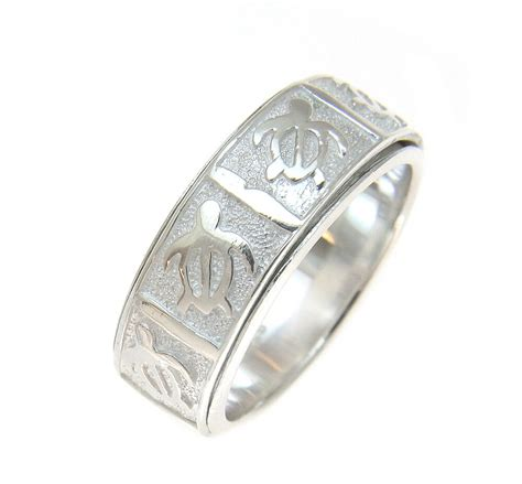 sterling silver 925 hawaiian honu turtle spin spinning