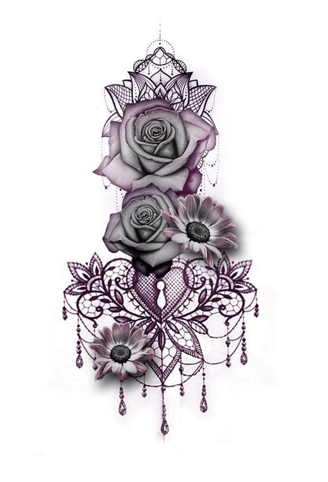 skull flowers tattoo designs gallery custom designs beautytatoos