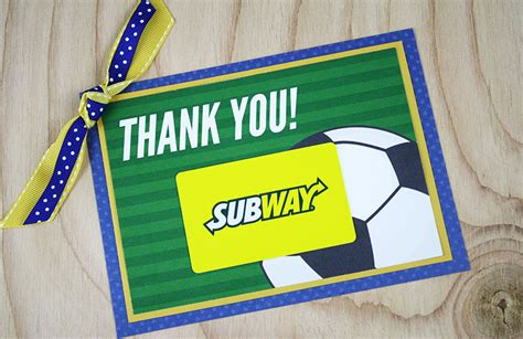printable subway gift cards free printable this soccer gift for coach is a kick gcg