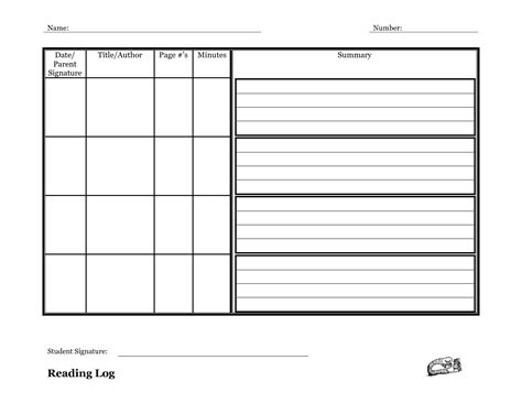 reading log with summary template reading log template with summary search common