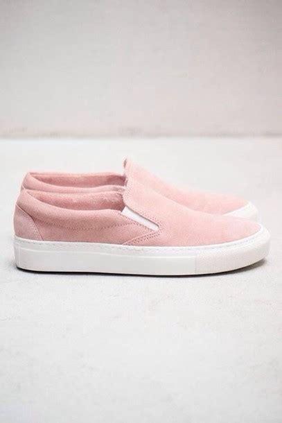Slip On Pink shoes vans pastel pastel pink pink vans sneakers slip on shoes fashion