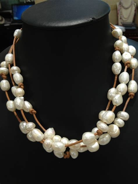 freshwater pearls for jewelry aliexpress buy baroque freshwater pearls necklace