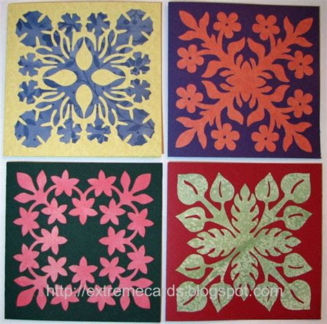 free printable hawaiian quilt patterns extreme cards and papercrafting hawaiian quilt block cards
