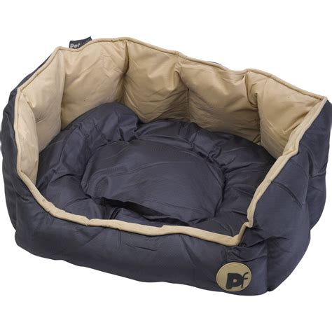 great hunting dog bed set oval square petface waterproof puppy bed luxury bedding reversible cushion ebay